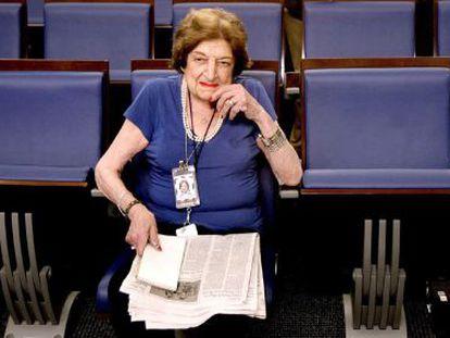 La periodista Helen Thomas.
