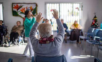 Centro de día de la Asociación de Familiares de Enfermos de Alzheimer en Conil, este lunes.