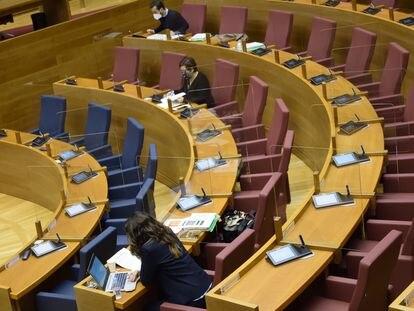 Comisión de Presupuestos en Les Corts.
