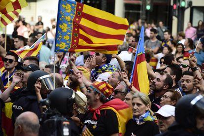 Concentración ultra del 9 d'Octubre en Valencia.