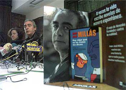 Juan José Millás, en Ponferrada durante la presentación del libro sobre Nevenka Fernández.
