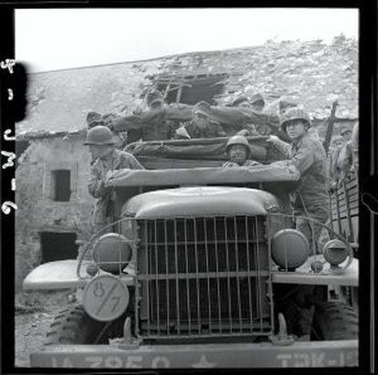 Una fotografía tomada por Morris en Normandía en verano de 1944.