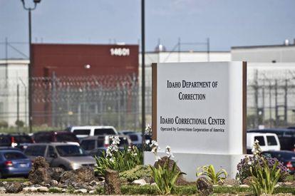 La entrada a una prisión privada en Idaho