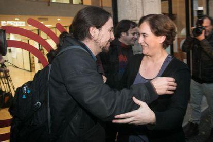 Pablo Iglesias i Ada Colau.