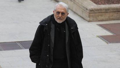 Agapito García Sánchez, a su llegada a la Audiencia Provincial de Madrid este jueves.