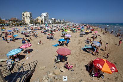 La playa de Gandía, el domingo 19 de julio.