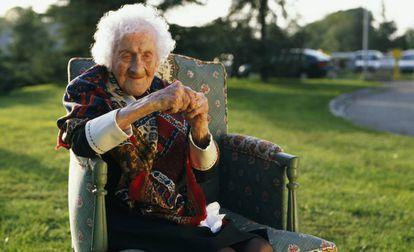 Jeanne Calment, que vivió hasta los 122 años, en una imagen de 1995.