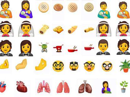 Algunos de los emojis que veremos en nuestros móviles en 2020
