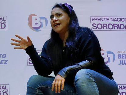 La activista Olimpia Coral Melo, en Ciudad de México, este lunes.
