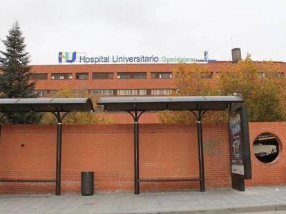 Fachada del hospital de Guadalajara.