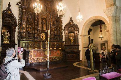 Visita al interior del pazo de Meirás en 2018.