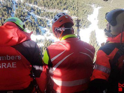 Un excursionista fallece tras caer treinta metros al vacío en  la montaña más alta de Cataluña