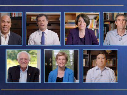 La reunión de los exaspirantes demócratas a la presidencia.
