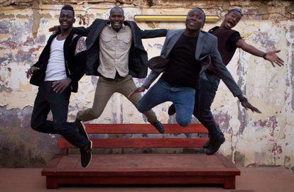 """el conjunto musical """"songhoy blues"""" de Mali foto de du FACEBOOCK"""