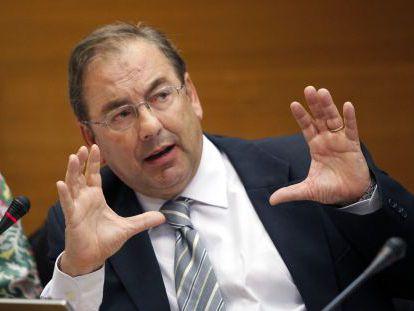 El consejero de Sanidad, Luis Rosado, ayer en las Cortes Valencianas.