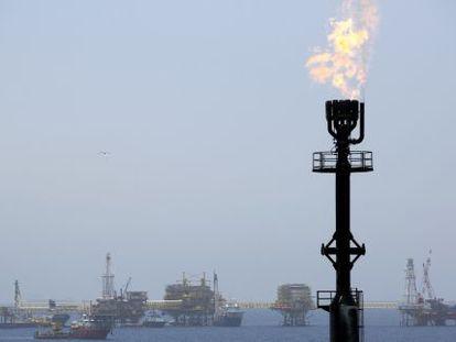 Plataforma petrolera de Pemex.