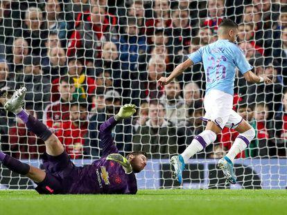 Mahrez marca el tercer gol del City.