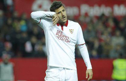 Jovetic, en un lance del Sevilla-Madrid.