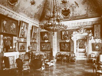 """Vista de la llamada """"habitación de Matisse"""" en la casa del mecenas moscovita Sergei Shchukin."""