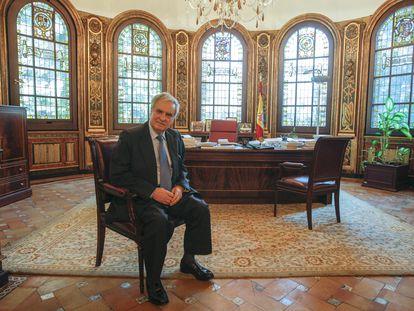 Enrique Múgica, durante una entrevista en 2009.