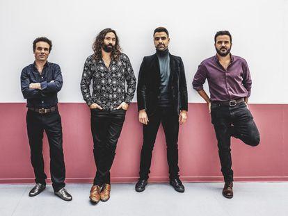 Julián Maeso, Juan Zelada, Alberto Anaut y Adrián Costa, los miembros del cuarteto Combo Paradiso.