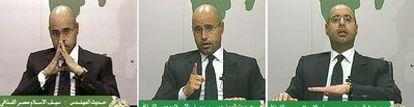Saif el-Islam se dirige a los libios por televisión