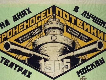 Cartel del acorazado Potemkin de Rodchenko de 1926.