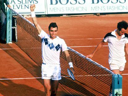 Lendl celebra su victoria en la final de Roland Garros de 1984 ante McEnroe. / RINDOFF PETROFF (GETTY)