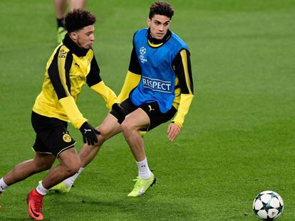 Bartra, en un entrenamiento con el Dortmund.