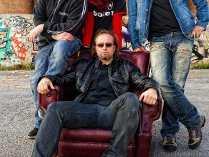 Boikot en una imagen promocional de su disco 'Lágrimas de rabia'.