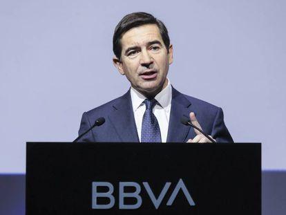 Carlos Torres, presidente del BBVA, en enero de 2020.