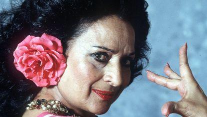 Lola Flores, en 1994.
