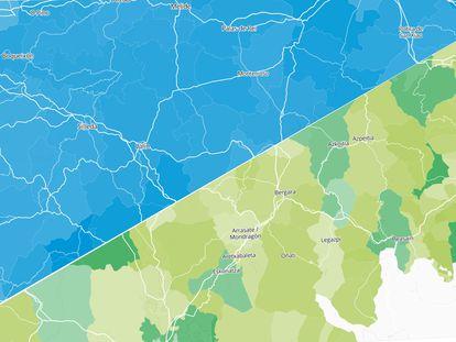 Los resultados de las elecciones en Galicia y País Vasco, por municipios