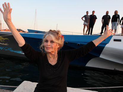 Brigitte Bardot en Saint-Tropez, Francia, en septiembre de 2014.