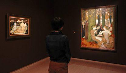 Aspecto de la exposición 'Impresionistas y Postimpresionistas, el nacimiento del arte moderno', en la Fundación Mapfre en 2013.