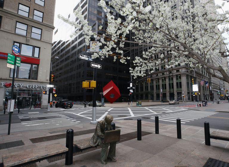 Vista de Broadway (Nueva York), la semana pasada, en pleno confinamiento.