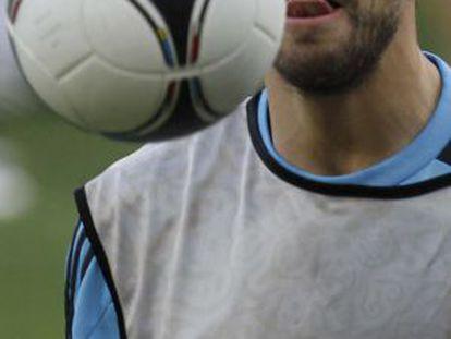 Gerard Piqué, en un entrenamiento.