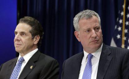 El gobernador Cuomo y el alcalde De Blasio.