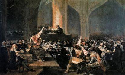 'Auto de fe de la Inquisición', óleo de Francisco de Goya de la Academia de Bellas Artes.