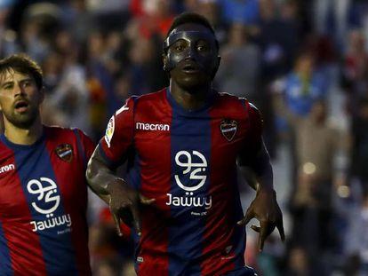 Emmanuele Boateng, durante el partido contra el Barcelona.