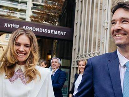 Natalia Vodianova y Antoine Arnault, en su boda en París.