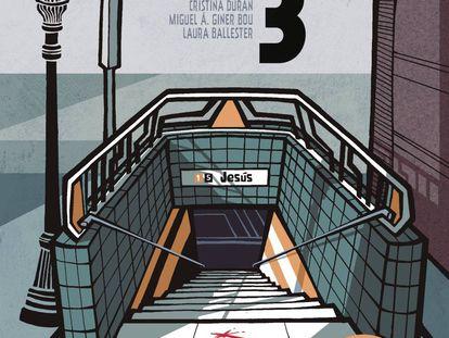 La portada de 'El día 3', el cómic sobre el accidente más grave de metro en España.