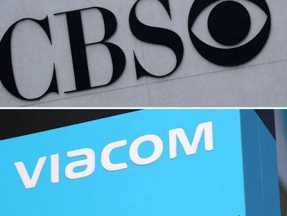Los logos de CBS y Viacom.