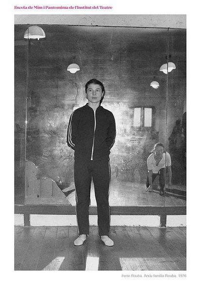 Irene Rouba, en una clase del Institut del Teatre en 1976.