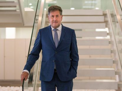 El presidente de Hotusa, Amancio López, el pasado domingo en Barcelona.
