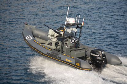Barco no tripulado de la empresa española Utek