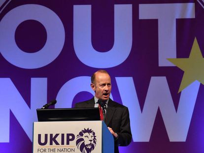 El líder de UKIP, Henry Bolton, el pasado septiembre.