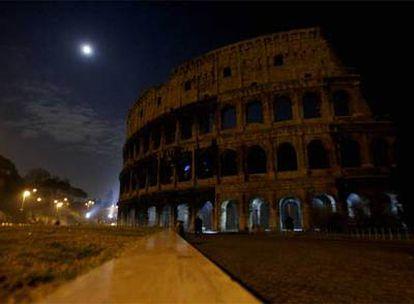 El Coliseo de Roma, durante el apagón.