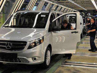 Factoría de furgonetas de Mercedes Benz en Vitoria.