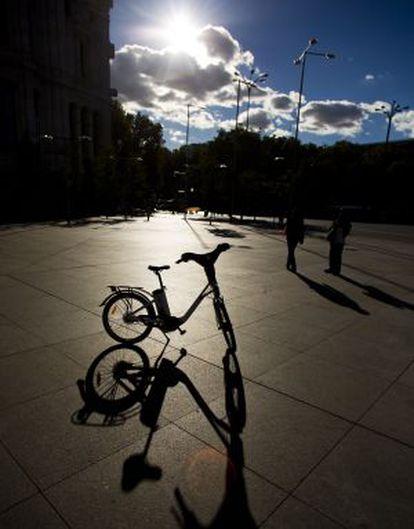 Una bicicleta eléctrica similar a las que se usarán en Madrid.